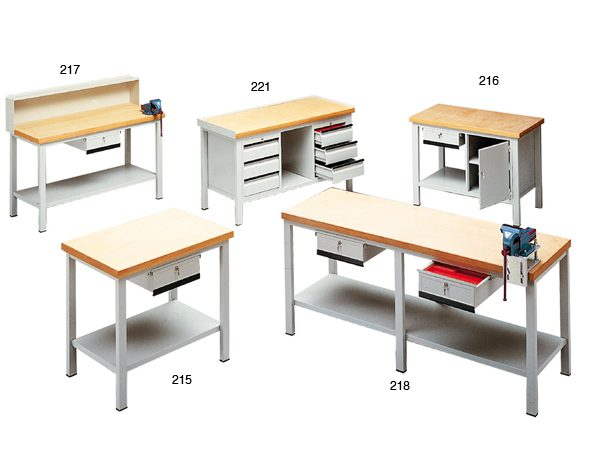 Banchi da lavoro serie T1- piano legno